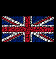 uk flag pattern of fist icons vector image vector image