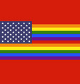 usa lgbt flag vector image