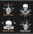 vintage rock-n-roll t-shirt graphics set vector image