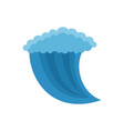 wave water icon flat style vector image