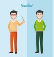 young teacher cartoon vector image