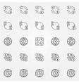 Currency exchange line icons vector image