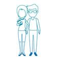 teachers couple avatars characters vector image