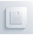 modern diskette light icon vector image