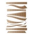 set of curved films background vector image