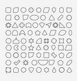 80 basic shapes outline eps 10 vector image