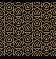 abstract seamless pattern geometric line gold vector image vector image