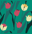 artistic seamless pattern with abstract tulips vector image