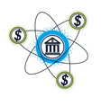 banking and finance conceptual logo unique symbol vector image