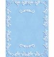 Blue Vintage Background with Floral vector image
