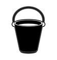 bucket with water vector image