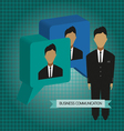 Business communication with 3d bubbles and roles f vector image vector image