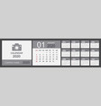 calendar 2020 set desk calendar template design vector image