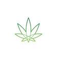 cannabis logo marijuana symbol green medicine leaf vector image