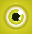 cartoon eye vector image