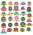 Collection labels and ribbons vector image