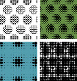 Collection Seamless patern with halftone effects vector image