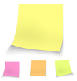 Color stick notes vector image vector image