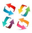 colorful arrows set 3d arrow logo design vector image vector image