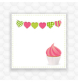 cupcake and bunting background vector image vector image