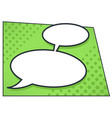 dialog bubble in comic book style communication vector image