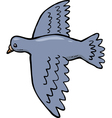 dove in flight vector image vector image