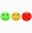 emoticons set of smiley icons vector image vector image