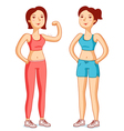 fit girls vector image vector image