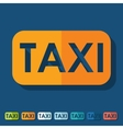Flat design taxi vector image