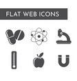 flat web icons the science vector image