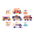food truck tasty snacks transport isolated vector image vector image