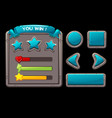 game concept metal interface for game vector image vector image