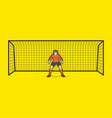 goalkeeper standing action soccer player vector image vector image