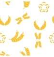Grain of wheat pattern cartoon style vector image vector image