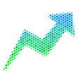 halftone blue-green trend icon vector image vector image