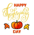 Happy Thanksgiving Day lettering Handwritten vector image vector image