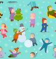 kids winter christmas games playground children vector image vector image