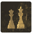 king and queen silhouettes grunge vector image