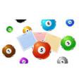 lottery balls bingo gaming victory tickets keno vector image