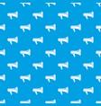 megaphone pattern seamless blue vector image vector image