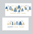 minimal holiday christmas trees for invitation vector image