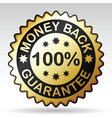 money back label vector image