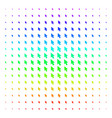 mouse cursor icon halftone spectral effect vector image vector image