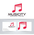 music city logo design vector image vector image