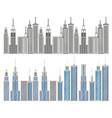 new york city scene vector image vector image