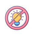 no bright light rgb color icon vector image