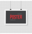 Poster Frame Mockup Realistic EPS10 vector image vector image