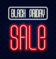 realistic isolated neon sign black friday vector image