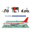repair and maintenance of aircraft vector image vector image