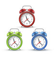 retro alarm clocks with bells realistic vector image